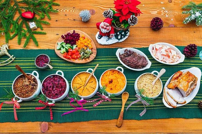 chefkoch weihnachtsessen traditionelles weihnachtsessen schinken vorspeise salat frisches gemüse weihnachten