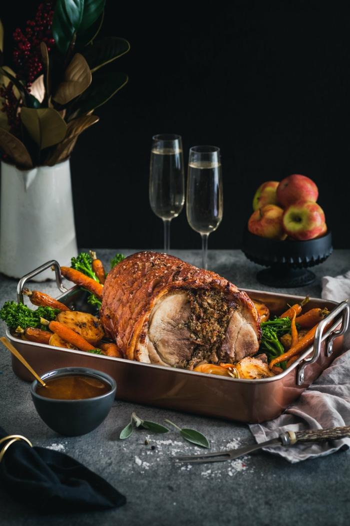 chefkoch weihnachtsessen weihnachtsgerichte schweinfleisch mit quinoa und feigen