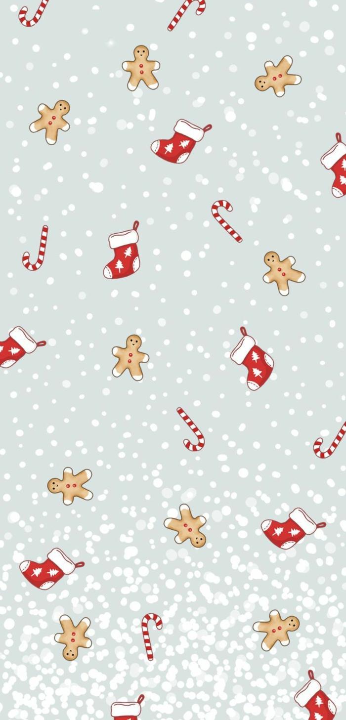 christmas wallpaper hd süße weihnachts hintergrundbilder nikolausstiefeln männchen zuckerstangen schneeflocken