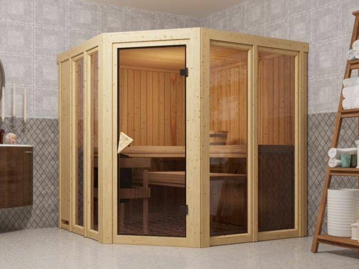 ecksauna mit glastüren sauna für zuhause kaufen spa zuhause