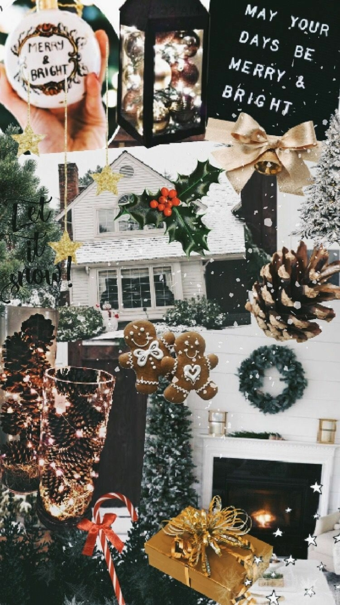 festliche collage mit weihnachtsbilder weihnachtskranz weihnachtsbaum kamin hintergrundbilder weihnachten kosten herunterladen