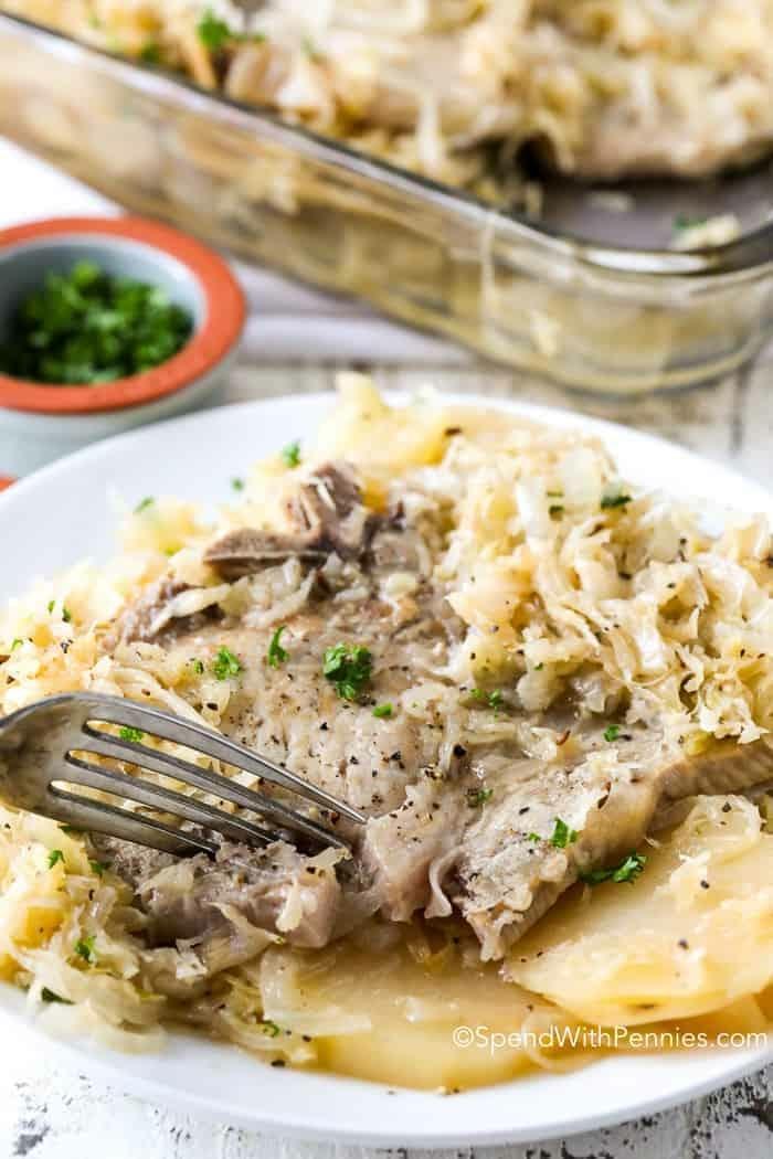fleischgerichte mit sauerkraut rezept klassisch abendessen ideen zubereiten