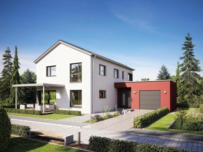 haus schlüsselfertig mit garage weißes fertighaus kaufen infos für und wider
