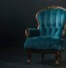 hochwertige polsterstoffe polsterstoff für stühle wohnzimmer sessel aus samt dunkel holz türkisfarbig
