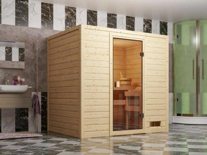 indoor sauna für zuhause kaufen inrofmationen glastür badezimmer schwarze und weiße fliessen