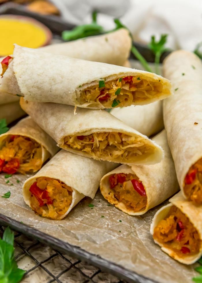 köstliche wraps veganer strudel mit sauerkraut zubereiten leckere rezepte mittagessen