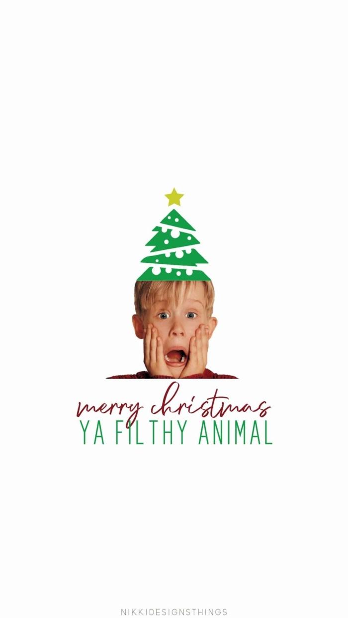 kevin allein zuhause lustiges bild weihnachtshintergrund handy hintergrundbild home alone meme merry christmas ya filthy animal