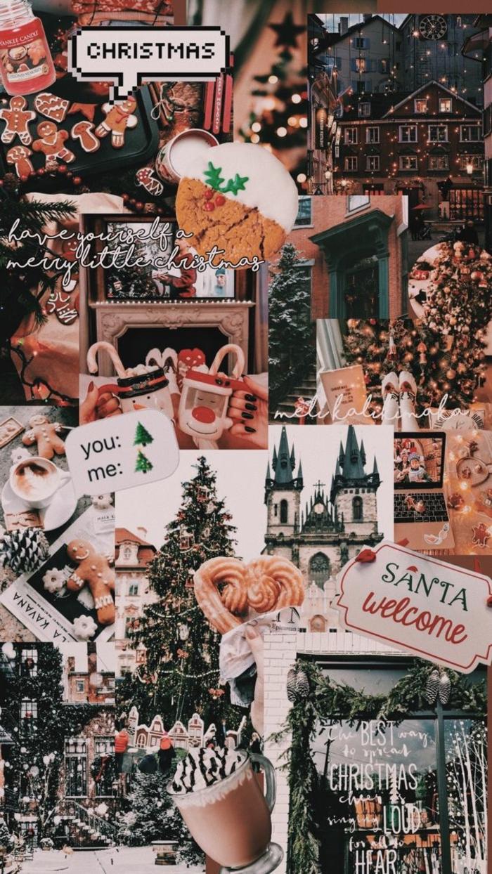 kreative collage weihnachtsbilder hintergrund handy kostenlose bilder handy wallpaper herunterladen festliche stimmung