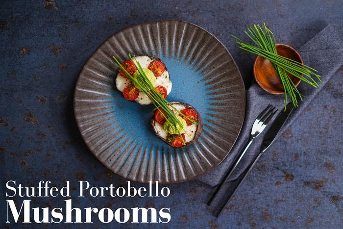 leckere rezepte für gäste vorspeise ideen leckere pilze mit füllung porto bello pilze