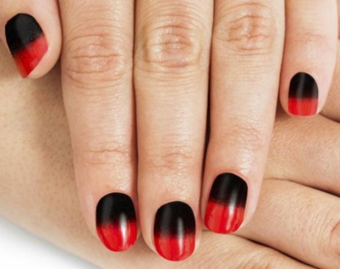 louboutin maniküre schwarz rot nagellack kreative ideen maniküre gelnägel selber machen