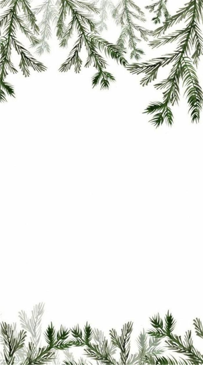 minimalistische wallpaper handy tannenbaumzweige weihnachtsbilder kostenlos als hintergrund iphone