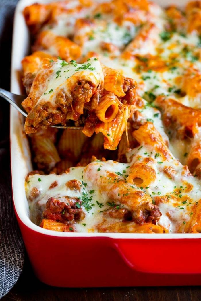 one pot pasta rezepte kasserolle mit rigatoni was kann ich heute kochen mittagessen einfach und schnell