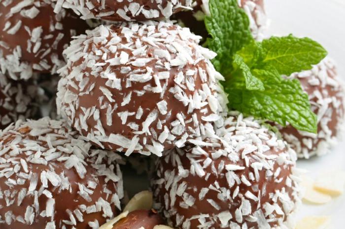 rezept rumkugeln konfiserie rezepte rumkugeln rezepte naturelle dunkle schokolade kokos minze