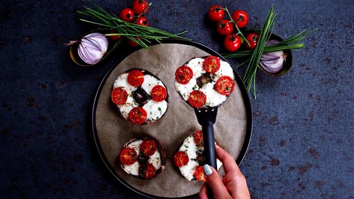rezepte einfach und schnell gefüllte pilzen weihanchtliche rezepte vorspeise