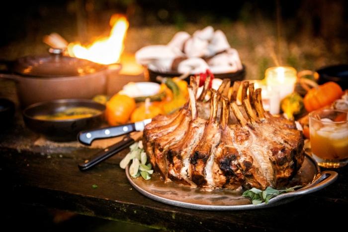 rezepte für weihnachten hauptgang weihnachtskronen braten vom schweinefleisch