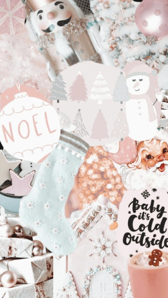 rosa ästhetik minimalistische farben wallpaper hintergrundbilder weihnachten kostenlos handy