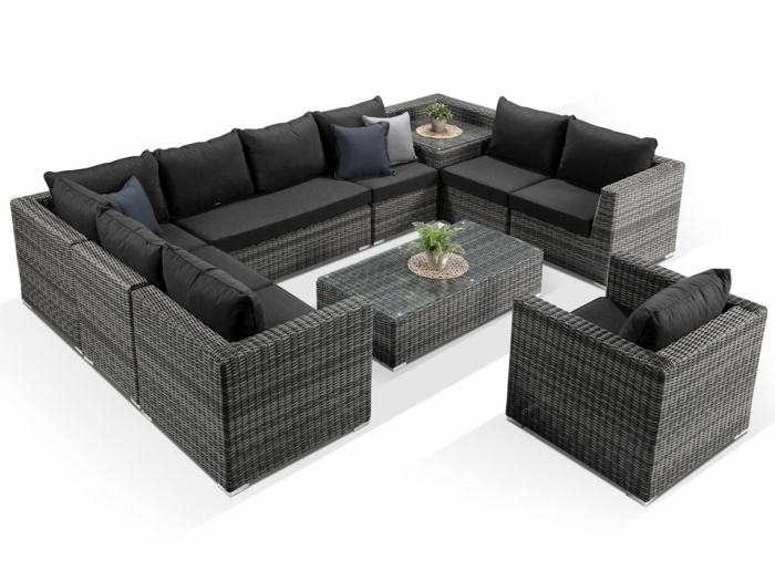 sofa rattan gartenmöbel ideen