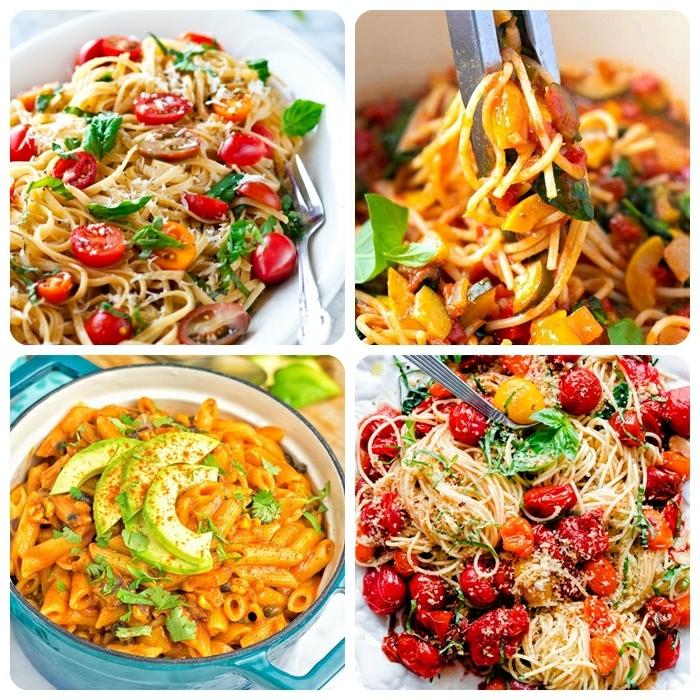 spaghetti rezepte einfach pasta gerichte ideen für jeden tag was kann ich heute kochen noodles mit cherry tomaten