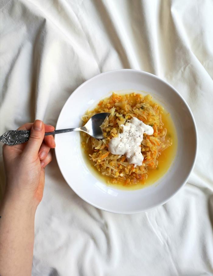 suppe mit sauerkraut rezept klassisch mit joghurt leckere und gesinde gerichte zum mittagessen ideen