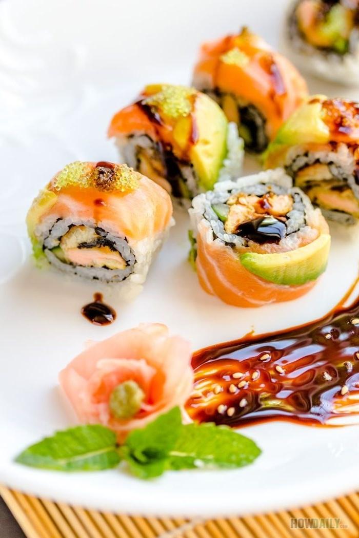 sushi mit lachs selber machen schritt für schritt japanische küche