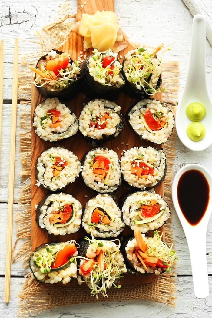 sushi ohne fleisch fingerfood rezepte japanisches essen zubereitungsweise