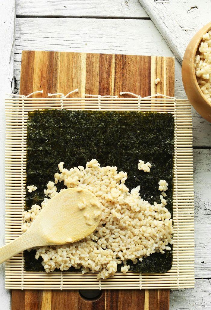 sushi ohne fleisch vegane rezepte japanisches essen fingerfood selber machen