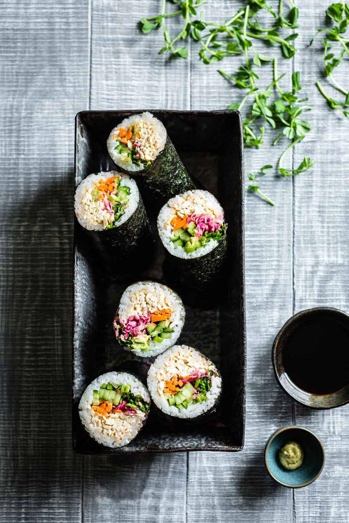 sushi reis machen leckeres patyessen fingerfood ideen essen für gäste