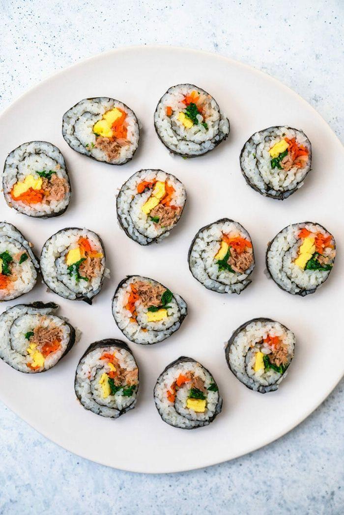 sushi reis machen partyfood ideen chinesische rollen zubereitungsweise