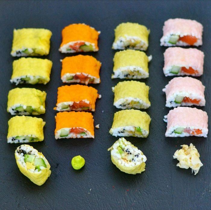 sushi reis machen regenbogen sushi rezept einfach schritt für schritt zubereitung