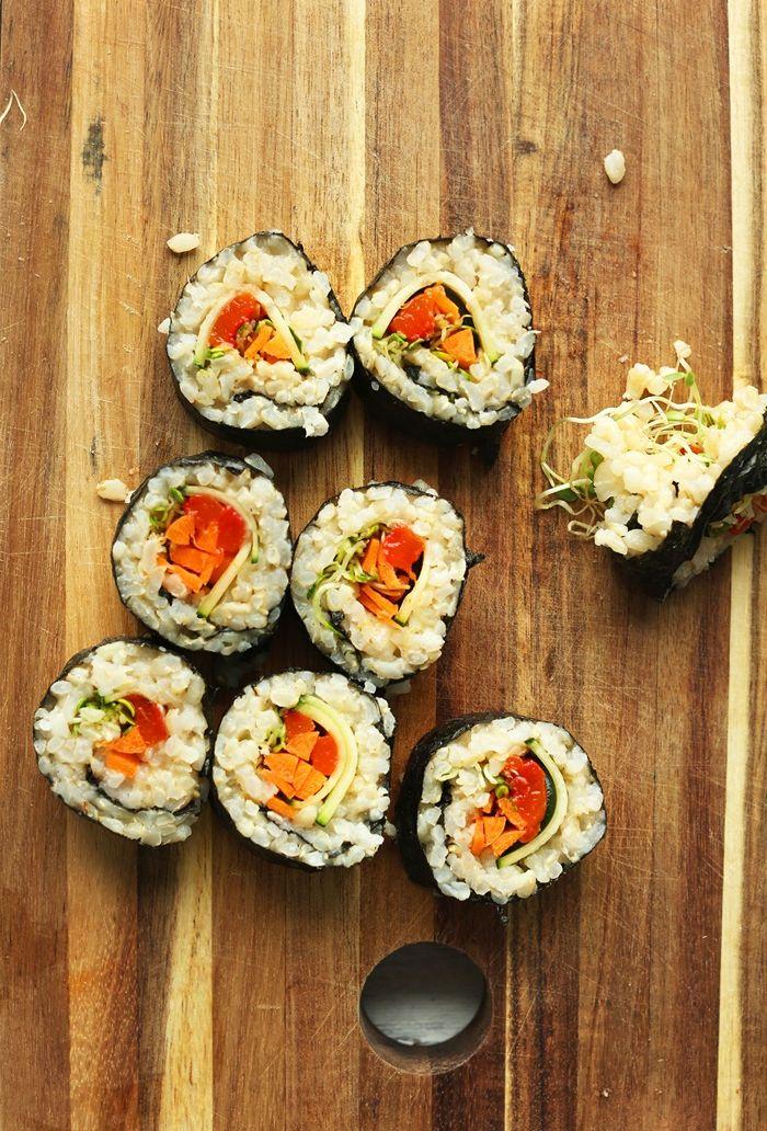 sushi reis machen vegane häppchen schritt für schritt partyfood ideen