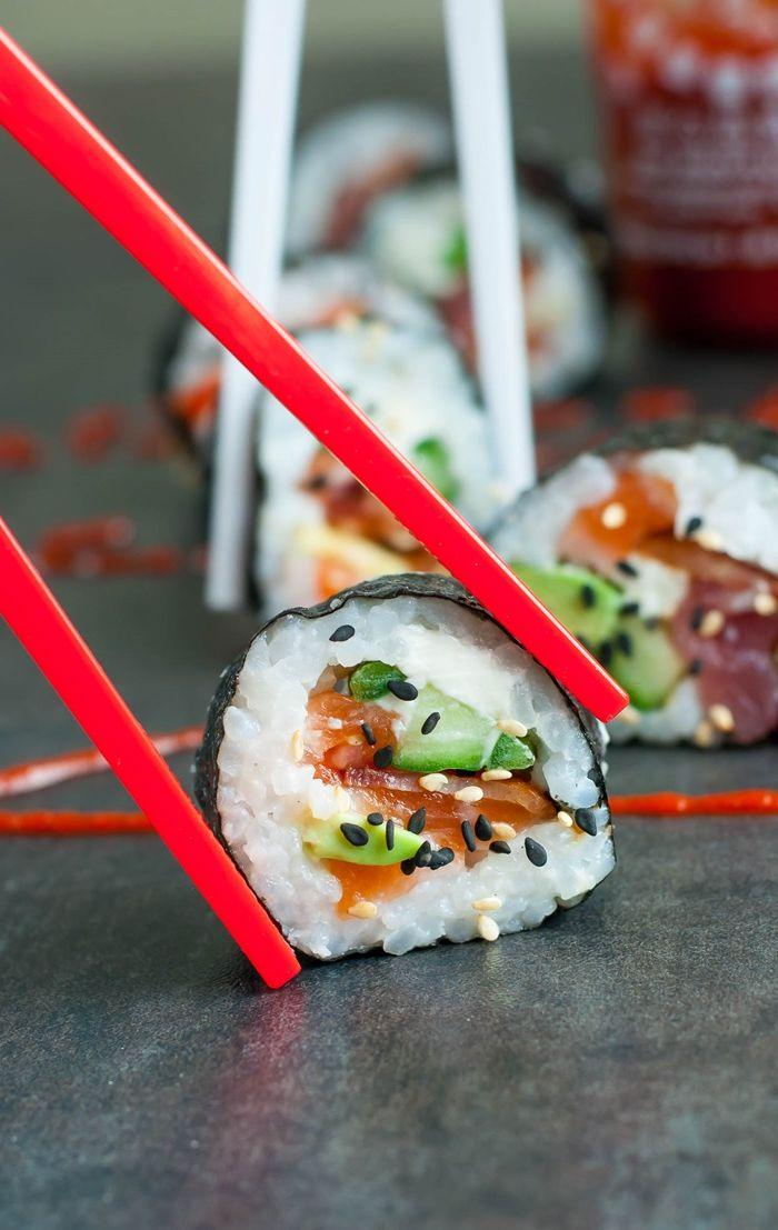 sushi reis selber machen fingerfood japanische rezepte party essen ideen