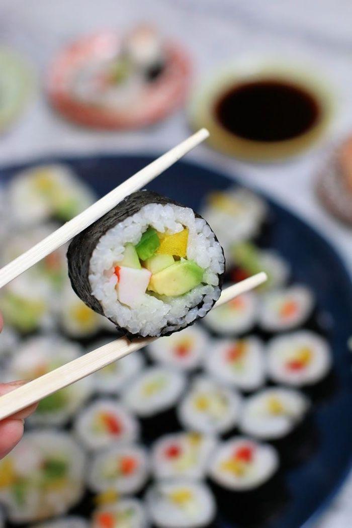 sushi reis selber machen schritt für schritt fingerfood für party japanische küche
