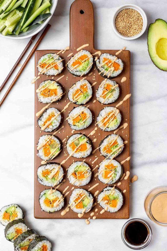 sushi reis zubereiten leckere rezepte pertyessen ideen selsbtgemachte rolle