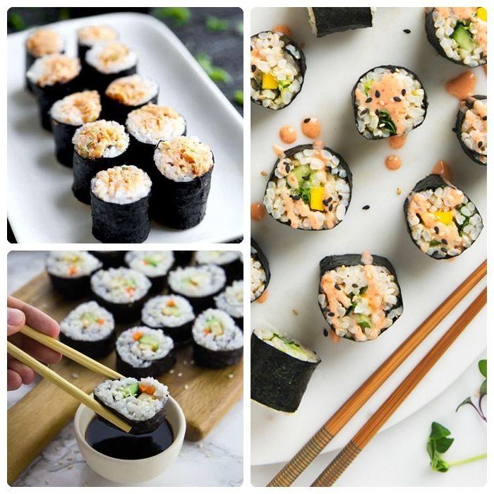 sushi selber machen fingerfood für party partyessen ideen rezepte mit reis