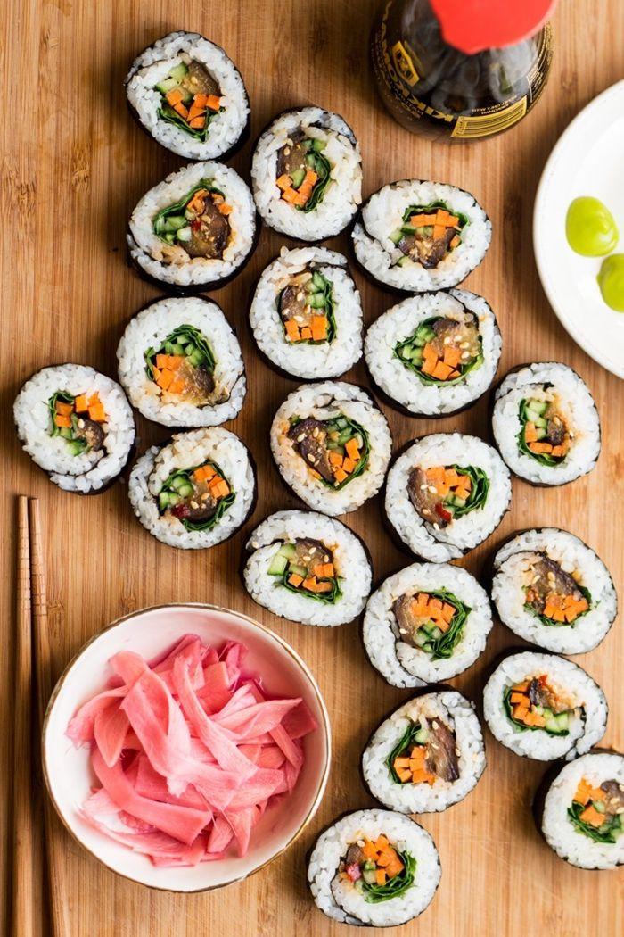 sushi selber machen rezept anleitung japanisches essen fingefood mit reis