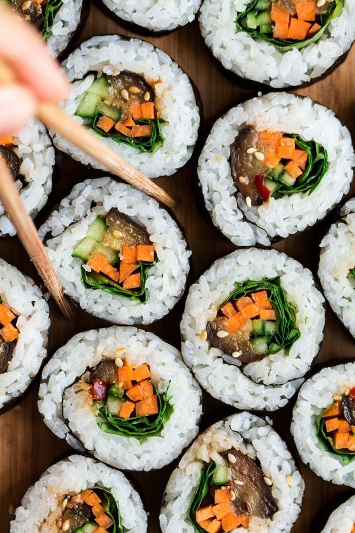 sushi selber machen rezept fingerfood ideen essen für gäste japanische küche