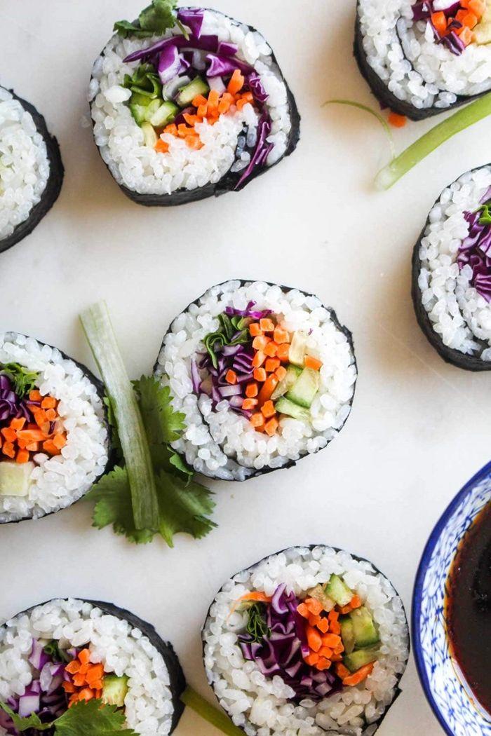 sushi selber machen rezept fingerfood ideen schritt für schritt japanische häppchen