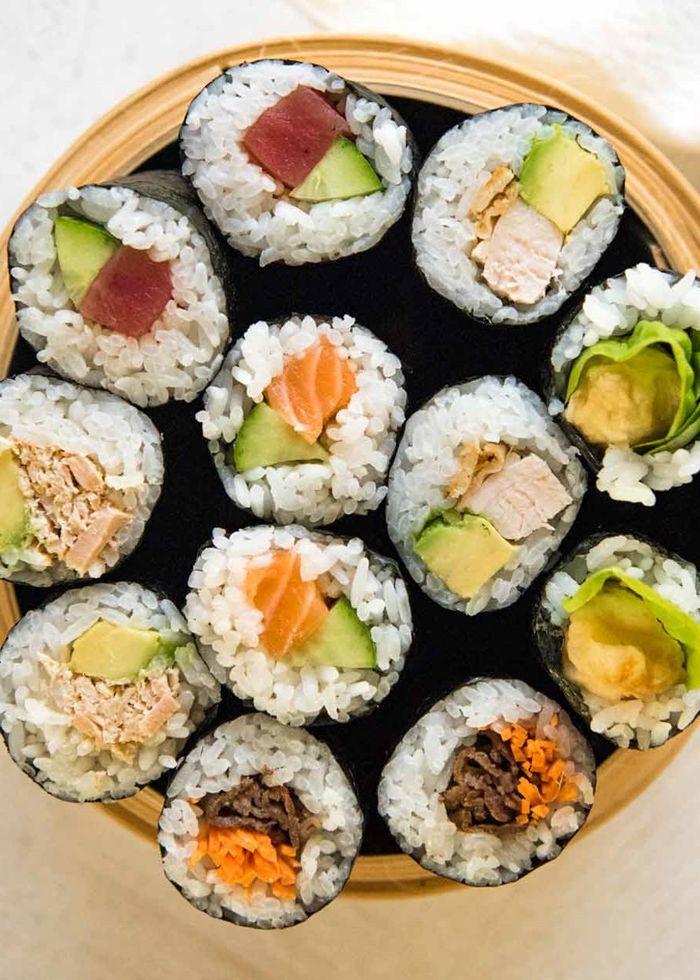 sushi selber machen zutaten leckere rezepte mit reis chinesisches essen