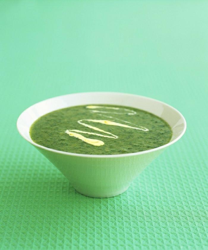 vegan kochen das immunsystem stärken eine grüne suppe mit petersile und kokosmilch
