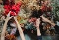 Zu Weihnachten Blumensträuße versenden