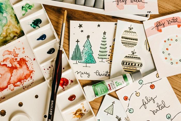 weihnachten im büro weihnachtskarten selber machen weihnachtliche karten geschenkkarten