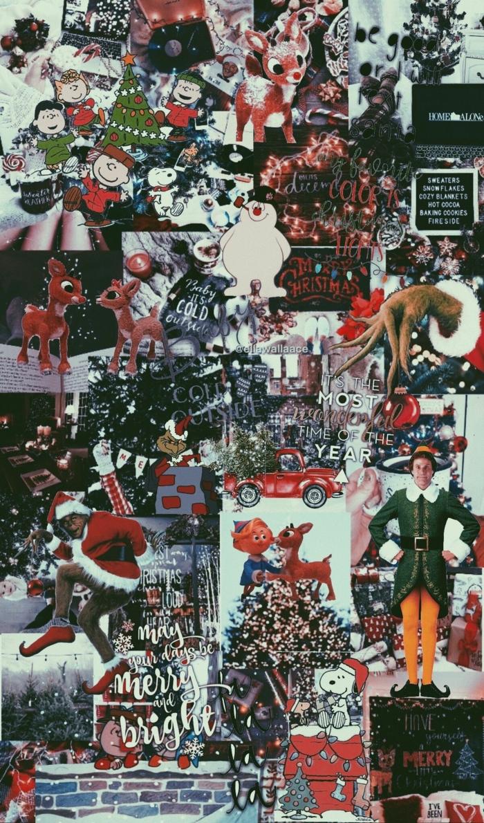 weihnachts hintergrundbilder collage weihnachtsbilder elf grinch weihnachtsbäume festliche stimmung hintergrundbilder weihnachten
