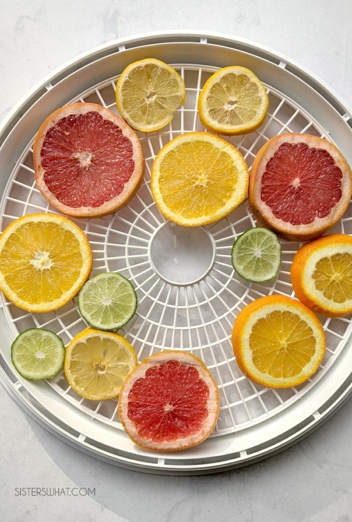 weihnachtsdeko selber basteln orangenscheiben zitronenscheiben grapefruitscheiben herrlich duftende deko diy girlande