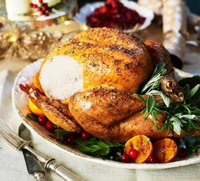 weihnachtsessen ideen weihnachtsessen rezepte fleisch gebratene pute zitronem würzen