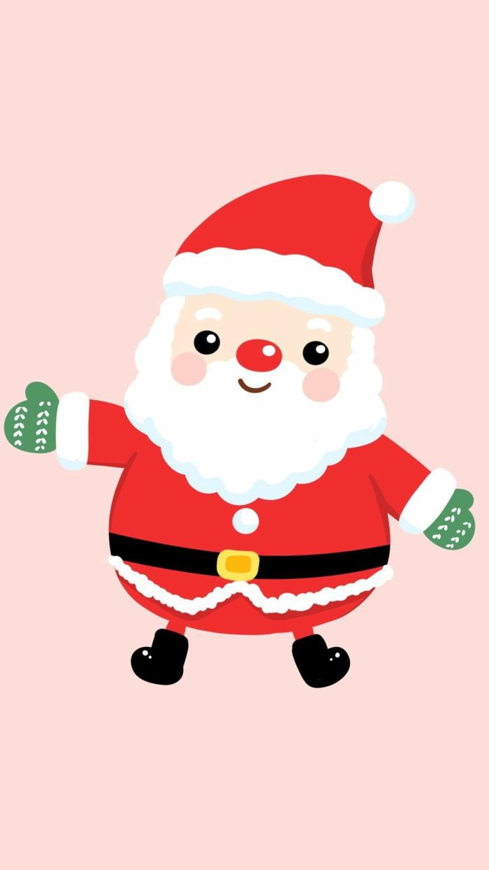 weihnachtsmann mit grünen handschuhen handy weihnachtsbilder hintergrund kostenlos downloaden festliche bilder hintergrund iphone