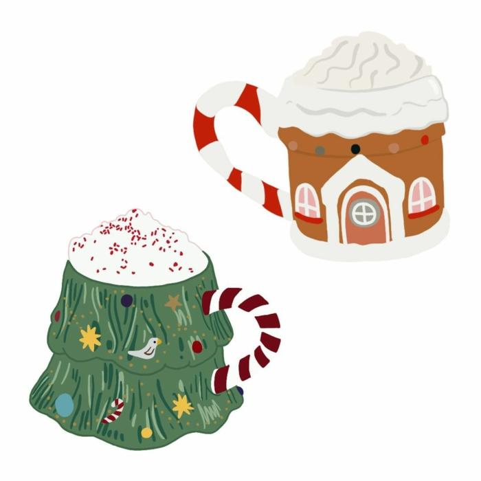 weihnachtstasse tannenbaumform und hausform zeichnung die schönsten hintergrundbilder weihnachten wallpaper