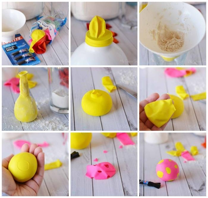 6 anleitung diy schritt für schritt stressball selber machen muttertag geschenkideen bastel kreative idee basteln mit kindern