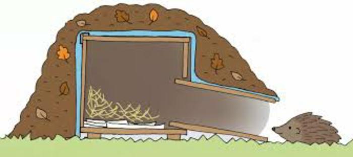 bauanleitung igelhaus igel überwintern igelhaus mit blättern füllen gut verstecken igel winterschlaf