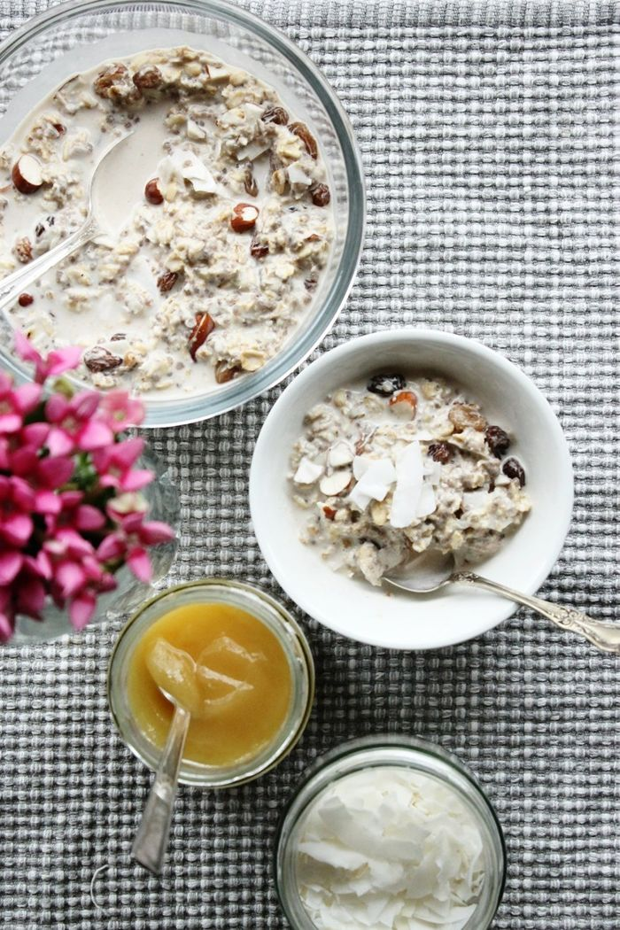 bircher müsli gesund frühstücksideen leckeres frühstück vegane rezepte