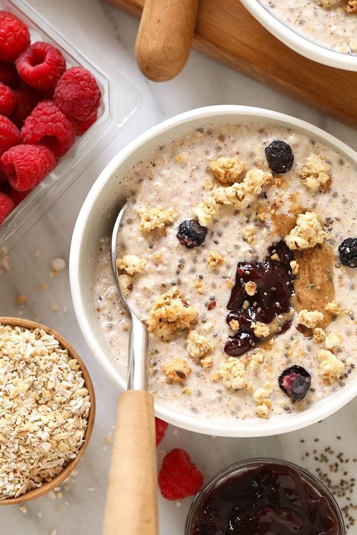 bircher müsli joghurt gesunde rezepte zum abnehmen haferflocken rezepte
